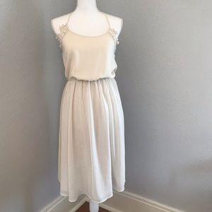 Forever 21 Cream Chiffon Dress small